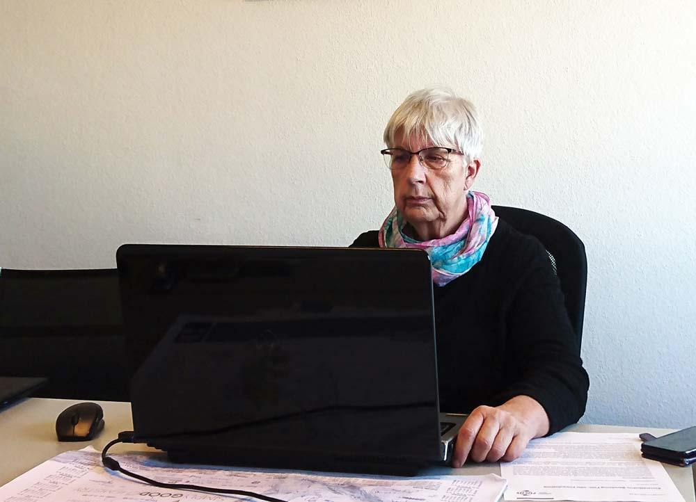 Marianne Bade bei der Online-Preisverleihung des FUCHS-Förderpreises